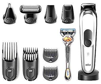 Braun Set de arreglo personal 10 en 1 sin cable, uso en seco, para cara, cuerpo y cabello MGK7021