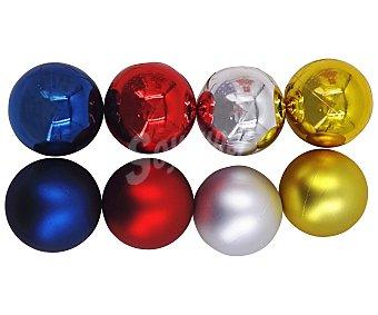 Actuel Bola de 8 centímetros de plástico de color azul, rojo, plata y oro, con acabado metalizado actuel. Este producto dispone de distintos modelos o colores. Se venden por separado SE surtirán según existencias 8cm