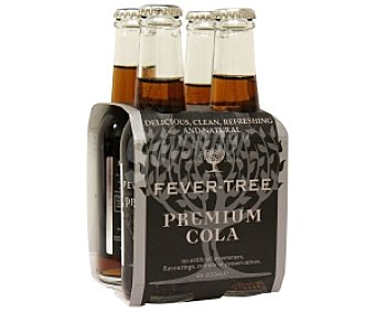 Fever Tree Refresco de cola premium Pack de 4 Botellas de 200 Mililitros