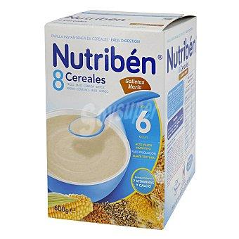 Nutribén Papilla 8 Cereales Galleta María , a partir de 6 Meses 600 Gramos