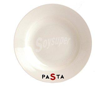 QUID Plato hondo redondo para pasta, porcelana con acabado brillante, 24,5 centímetros 1 Unidad