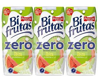 Bifrutas Pascual Leche con zumo de frutas ibizencas (melón y sandía) 3 x 330 ml
