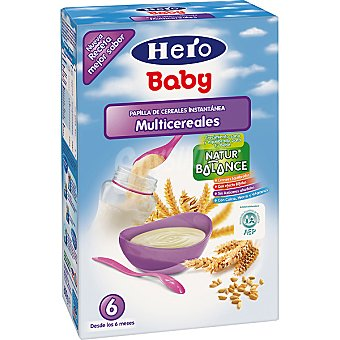 Hero Baby Papilla instantánea multicereales Paquete 600 g
