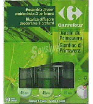 Carrefour Recambio electrico 3 fragancias jardin de primavera 3 ud