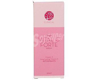 SEGLE Serum con vitamina C antioxodante reforzado que difumina las arrugas y aporta luminosidad y tersura a la piel. En pieles grasas ayuda a cerrar los poros abiertos. Uso de noche 15 mililitros