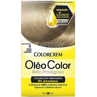Colorcrem Tinte óleo Color Rubio Claro Obsesión nº 8 coloración permanemte sin amoniaco Caja 1 unidad