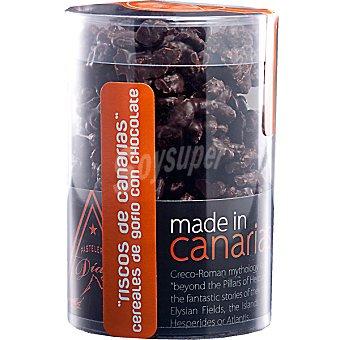 PASTELERÍA DÍAZ Riscos de Canarias Cereales de gofio con chocolate negro bote 125 g Bote 125 g