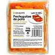 Pechuguitas de pollo con salsa de tomate 1-2 raciones sin gluten Envase 250 g Cascajares