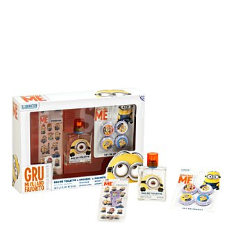 Minions Estuche colonia spray 50 ml. + Chapas 1 ud