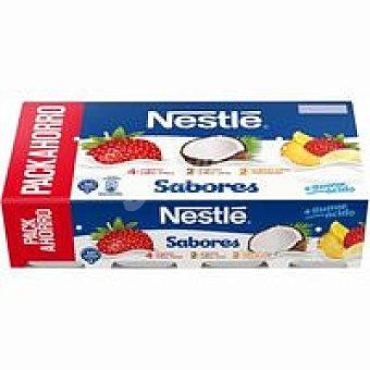 Nestlé Yogur fresa, macedonia y coco 8 unidades de 120g