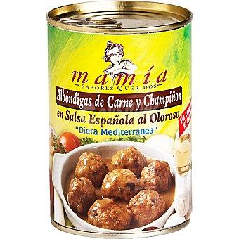 Mamía Albóndigas de carne y champiñón en salsa española lata 400 g Lata 400 g