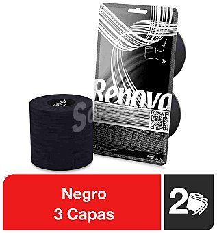 Renova Papel higiénico negro Paquete 2 rollos