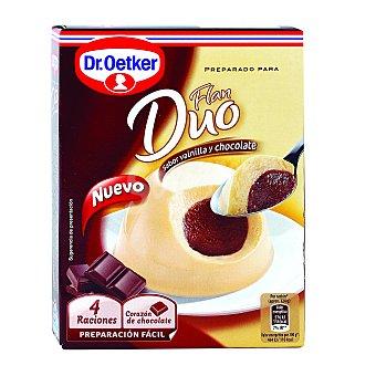 Dr. Oetker Flan dúo de vainilla-chocolate Caja de 92 g