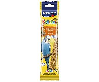 Vitakraft Barritas para periquitos con sabor a miel 60 g