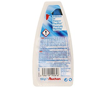 Auchan Ambientador absorbeolores en gel, fragancia frescor pacífico 150 gramos