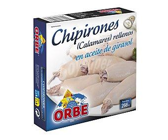 Orbe Chipirones rellenos en aceite vegetal Lata de 168 g