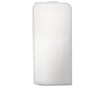 MUVIT Funda con tapa y protector de pantalla para iphone 5 slim blanco
