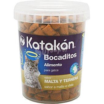 KATAKÁN Bocaditos para gato sabor malta y ternera  envase 170 g