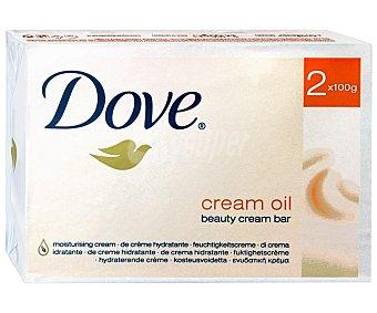 Dove Jabón en Pastillas Hidratante Oil 2 Unidades de 100 Gramos