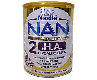 Nan Nestlé Leche de continuación 2 hipoalergénica, a partir de 6 meses Expert 800 Gramos
