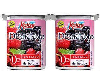 Kalise Yogur desnatado (0% materia grasa) con trocitos de frutas del bosque 4 x 125 g