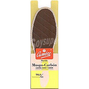 CUMBRE Plantillas musgo carbón 38-39