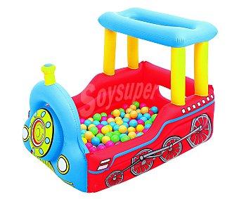 BESTWAY Tren hinchable con 50 bolas de colorines en su interior, medidas: 137x99x94 centímetros 1 unidad