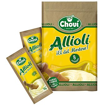 Chovi Salsa alioli sin gluten Pack de 8 unidades de 18 g