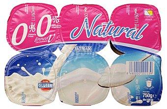Hacendado Yogur desnatado natural Pack 6 x 125 g - 750 g