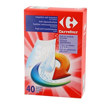 Carrefour Toallitas desechables anti-transferencia color 40 ud