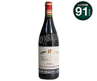 VIÑA REAL Vino tinto gran reserva con denominación de origen Rioja Botella de 75 centilitros