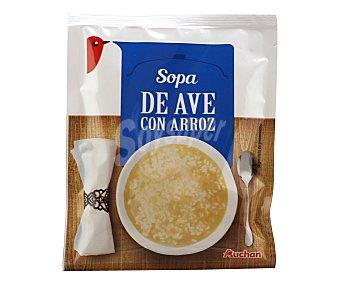 Auchan Sopa de ave con arroz Sobre de 75 gramos