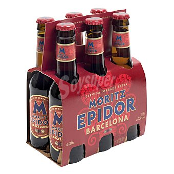 Moritz Epidor Cerveza rubia extra  Pack 6 x 20 cl