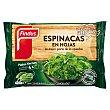 Espinacas en hojas, en prácticas porciones de 100 G 400 g Findus