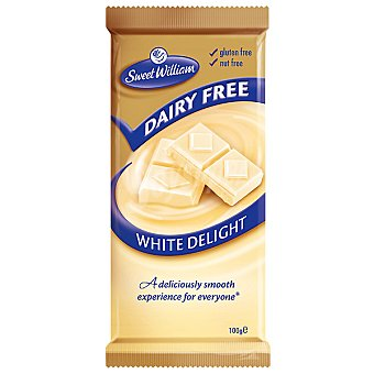 SWEET WILLIAM Chocolate blanco sin lactosa sin gluten Estuche 100 g