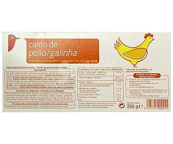 Auchan Caldo de pollo 24 pastillas 255 gramos