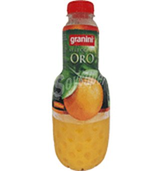 Granini Zumo exprimido de naranja sin pulpa Selección Oro Botella 1 litro