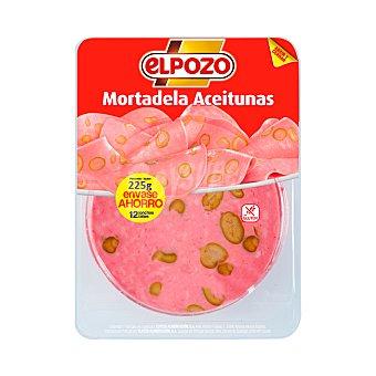 ElPozo Mortadela con aceitunas, sin gluten y cortada en lonchas 250 g