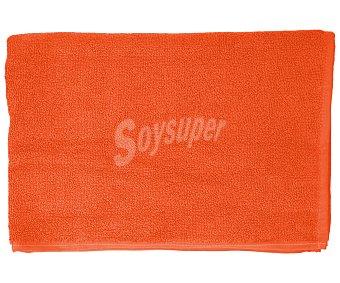 Productos Económicos Alcampo Alfombra de baño color naranja, densidad de 700 gramos/m², 50x90 centímetros 1 unidad