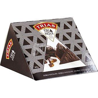 Trias Galletas triángulo con doble chocolate envase 160 g envase 160 g