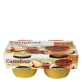Carrefour Flan hu/biz/miel 4 ud