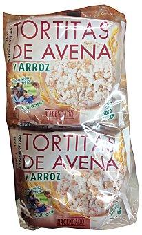 Hacendado Tortas arroz y avena Pack 4 paquetes, 97 g