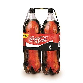 Coca-Cola Zero Refresco de cola sin azúcares añadidos 2 botellas de 2 l