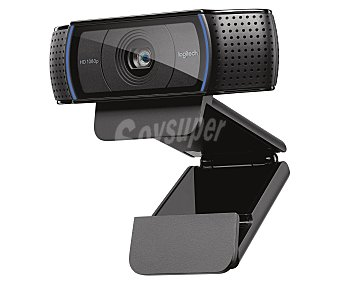 LOGITECH HD PRO C920 Webcam Full HD, sensor de 15 Mpx.