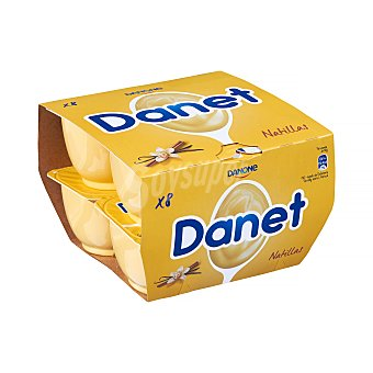 Danet Danone Natillas de vainilla sin gluten 8 x 125 g