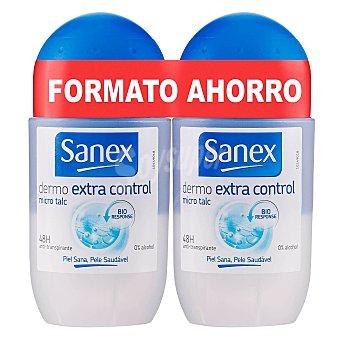 Sanex Desodorante Dermo Extra Control Roll-on Pack 2x45 ml