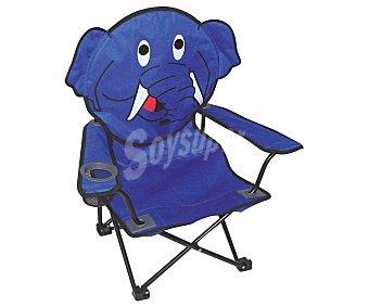 Plob Silla plegable infántil con asiento de poliester con PVC con forma de elefante, perro o gato, plob