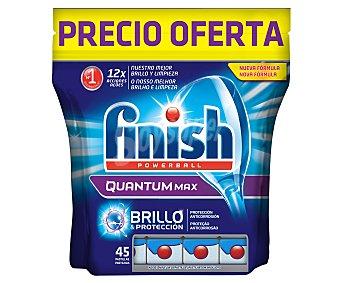 FINISH QUANTUM  Lavavajillas en pastillas (12 acciones) 45 pastillas