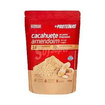 Hacendado Cacahuete en polvo desgrasado + proteinas Paquete 200 g