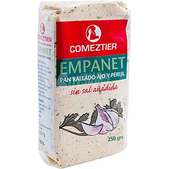 Comeztier Empanet pan rallado con ajo y perejil sin sal añadida Bolsa 250 g